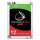 Seagate IronWolf Pro - Disco Duro Interno de 12 TB para Sistemas Bay 1-16 NAS (3,5', 7200 RPM, 256 MB de caché, hasta 214 MB/s, Carga de Trabajo de 300 TB/año) (Reacondicionado)