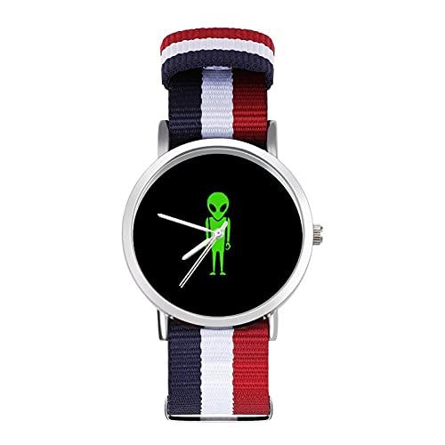 Alien - Reloj de ocio para adultos con trenza escala, ajustable y elegante, espejo de cristal de 1.6 pulgadas para hombres y mujeres