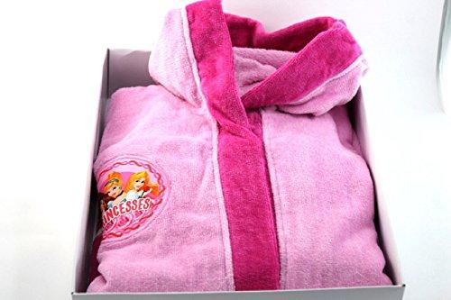Disney Princess - Albornoz de niña rosa de rizo, talla 2/3 años