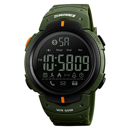 SXXRZA Smart Watch, mannen en vrouwen, multifunctioneel, mode-sport, elektronische horloge, bluetooth, stappenteller, foto, informatie, app-toepassing, herinnering, smartwatch, size, legergroen