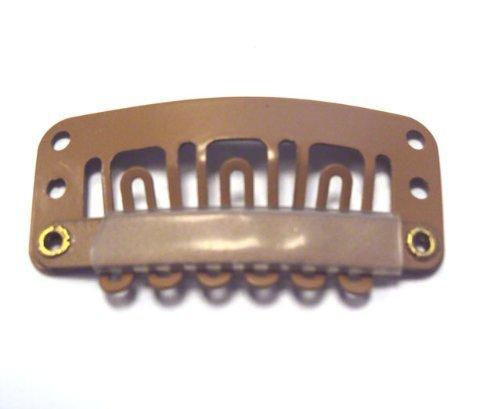 Extension de cheveux Clips 3,2 cm Marron clair pour cheveux moyen à épais Qté 100