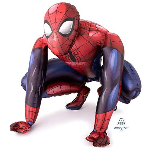 amscan 3632401 Airwalker - Globo de aluminio con diseño de Spiderman (1 unidad), color rojo