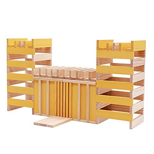 Kapla 9000156 Holzplättchen 40-teilig in Box, Gelb - 6