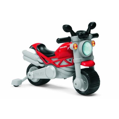 Chicco Moto Giocattolo per Bambini Ducati Monster, Gioco Cavalcabile a Spinta con Clacson e Rombo Sonoro, Ruote di Supporto Rimuovibili, Max 25 Kg - Giochi Bambini 18 Mesi - 5 Anni