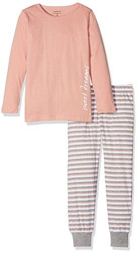 NAME IT Mädchen NKFNIGHTSET NOOS Zweiteiliger Schlafanzug, Mehrfarbig (Rose Tan), 128