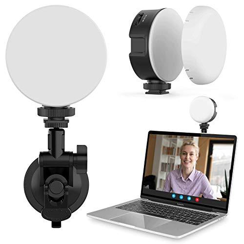 Laptop Licht für Videokonferenzen, Videokonferenz-Beleuchtungsset mit starkem Saugnapf, Computerlicht für Zoomanrufe Selbstübertragung Live-Streaming Remote-Arbeiten Kompatibel mit MacBook IPad