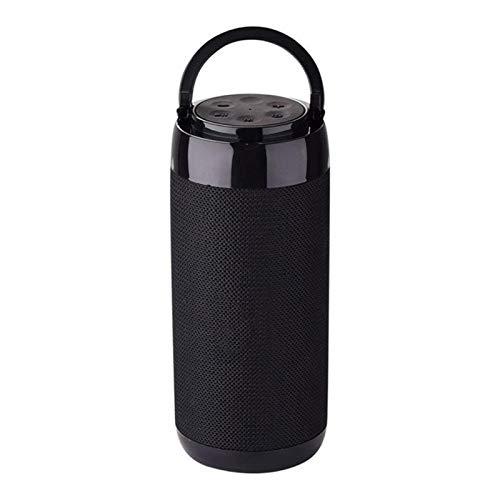 GUANGHEYUAN-J Mini Altavoz portátil Bluetooth con Radio Impermeable subwoofer inalámbrico Bluetooth estéreo Altavoz de Columna Altavoces, Altavoces (Color : Black)