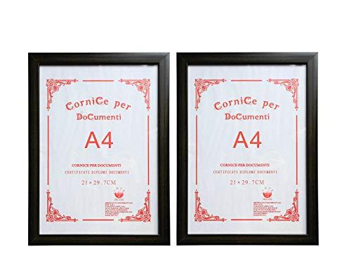 Guteinte - Marco A4,para fotografías y certificados, 21x 29,7cm-Paspartú para fotos de 15x 20cm incluido,...