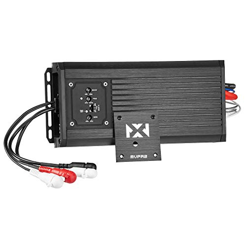 NVX MVPA2 600W Total RMS 2-Channel Bridgeable Marine-V Series Micro Class D Compact Marine/Powersports/Motorcycle Amplifier