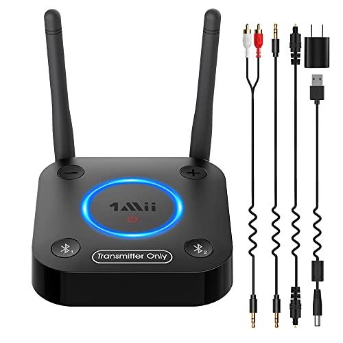 1Mii B06TX Bluetooth 5.0 Transmitter for TV to Wireless Headphone/Speaker