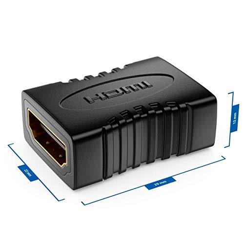 deleyCON HDMI Kupplung Adapter Verbinder - HDMI (Typ A) Buchse zu HDMI (Typ A) Buchse - HDR ARC 3D 4K 2160p Full HD 1080p Beamer LCD LED Plasma Monitor TV
