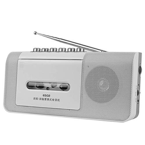 ZXy Reproductor de casetes Retro, Reproductor de casetes de Radio y grabadora con sintonización analógica de Radio Am/FM, micrófono Incorporado y batería