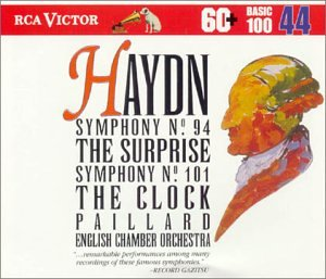 Haydn: Symphony No. 94 The Surprise, Symphony No. 100 Military, Symphony No. 101, The Clock (RCA Victor Basic 100, Vol. 44)