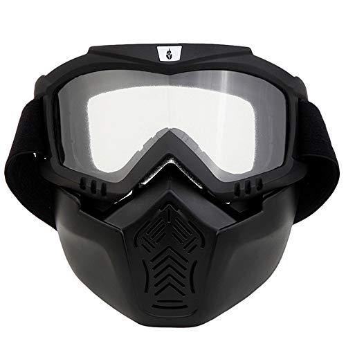 HBRT Máscara de Gafas de Motocicleta, máscara de Gafas de Seguridad Airsoft,...