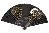 布扇子 男性用 「風神・雷神」 紳士用 メンズ 和服 夏ギフト 京都 和雑貨