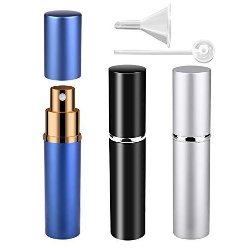 Atomizador Perfume Recargable, 10ml Mini dispensadores portátiles de la Botella Pulverizador Perfume para Perfume & Aftershave para Viaje Bolso con Embudo y Pipeta