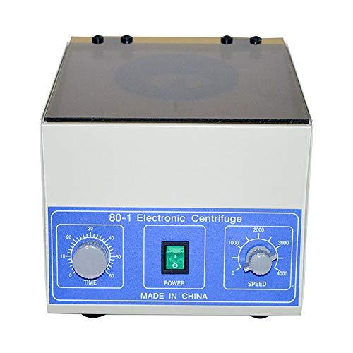 Elektrische Laborzentrifuge, 4000 U / min Desktop-Zentrifuge Zentrifugalmaschine mit niedrigerer Geschwindigkeit Für qualitative Analyse, 0-60 Minuten Timer und Geschwindigkeitskontrolle, 20 ml x 6