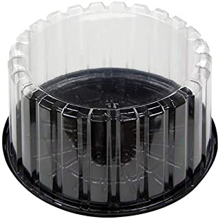 Pactiv YCI898010000, 8-Inch Plastic Deep Cake Container With Clear Plastic Dome Lid, Take Out Catering Pastry Display Box (100)