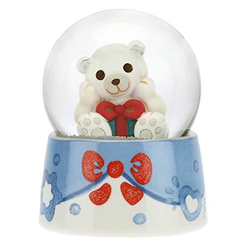 THUN - Palla di Vetro con Orso Polare - Accessori per la Casa da Collezionare - Formato Piccolo - Ceramica,Vetro - Ø 4,5 cm