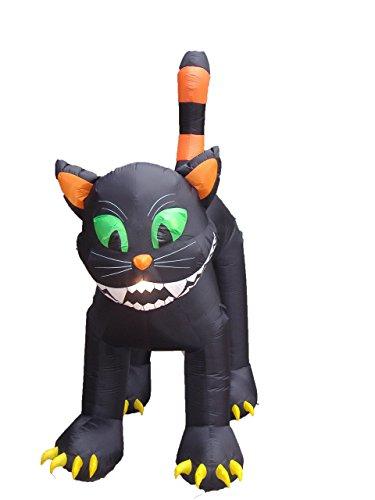 BZB Goods Riesige Schwarze Katze, aufblasbar, 3 m