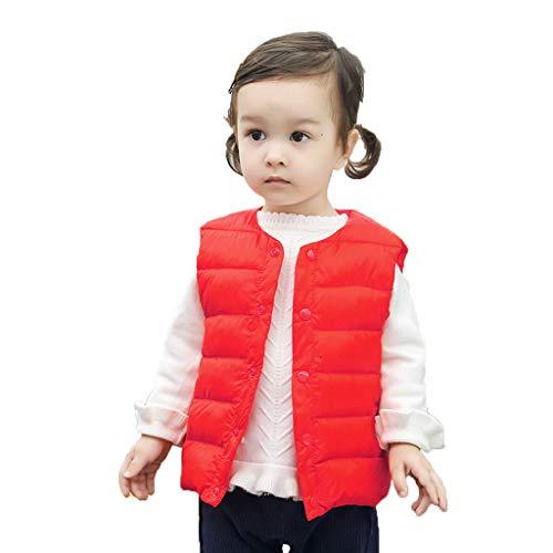 Daunenweste Kinder UFODB Baby Weste Jungen Mädchen Winter Warm Sleeveless Mäntel Button Ultraleichte Winterjacke ärmellose Veste Mantel Kleidung Oberbekleidung