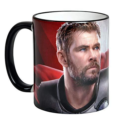 Elbenwald Marvel Tasse Avengers Endgame Thor Rundumdruck 320 ml Keramik rot