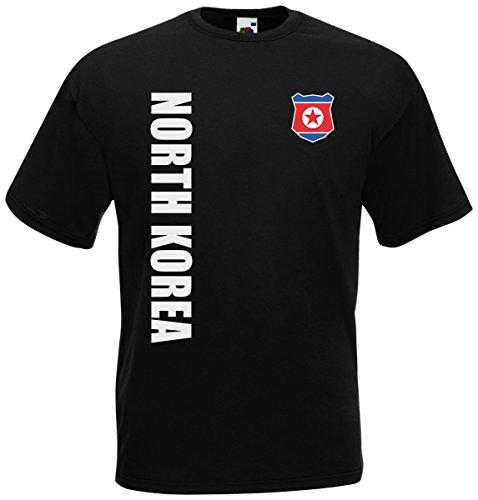 Nordkorea Korea WM-2022 T-Shirt Trikot Wunschname Nummer Schwarz L