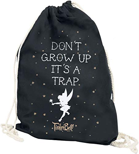 Tinker Bell Don´t Grow Up Turnbeutel schwarz