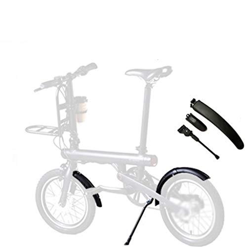 SMILEQ Accesorios de Bicicleta Delantero Trasero Guardabarros Repisa Soporte de trípode para Xiaomi Mijia Qicycle EF1 (Negra)