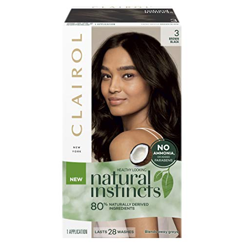 Clairol Natural Instincts Semi-Permanant Hair Colour, 3 Brown Black, 1 count