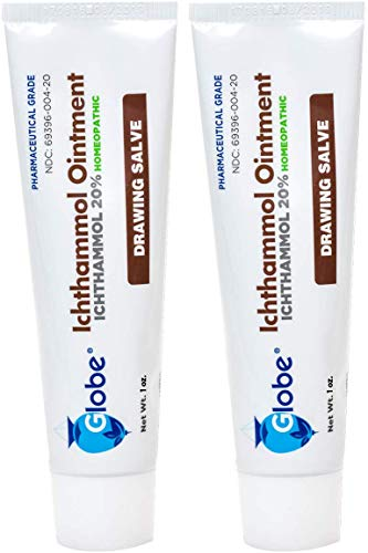 2-PACK Ichthammol Ointment 20%, (Drawing Salve) 1oz Tube (28.3g) Pharmaceutical Grade****