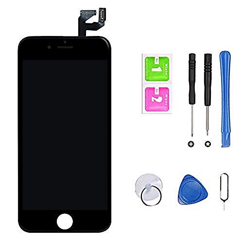 "Hoonyer Pantalla para iPhone 6s Pantalla táctil LCD Kit de Pantalla de Repuesto Ensamblaje de Marco Digitalizador Herramienta de reemplazo de conversión Completa(4.7"",Negro)"