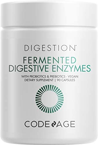 Codeage Fermented Digestive Enzymes Supplement Probiotics Prebiotics Vitamins Stomach Food Enzyme product image