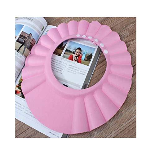 Kolylong Ajuster Shampooing Coffre-Fort ImperméAble EVA Douche Kids Douche Bain Shampooing Cap Bain Protection Souple Chapeau Pour BéBé Enfants Kids (Rose)