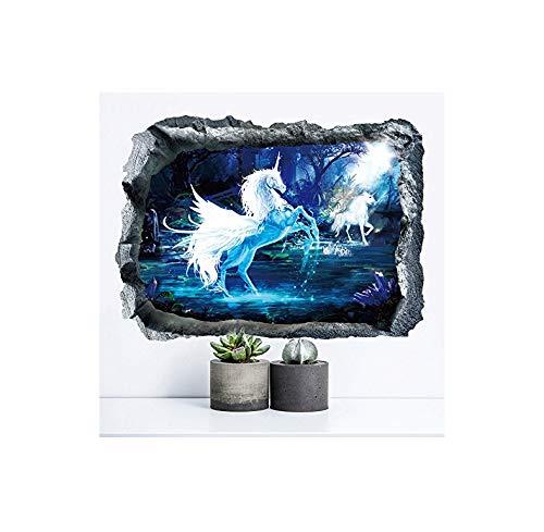 PLKIUG Muurstickers Alleen 3D Hoorns Woonkamer Slaapkamer TV Achtergrond Muur Eenvoudige Decoratieve Behang Muurstickers 65 * 48cm