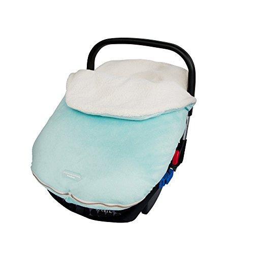 JJ Cole Infant Original Bundle Me Bundleme Thermaplush Light Blue Aqua Color