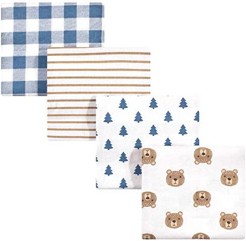 Hudson Baby Unisex Baby Cotton Flannel Receiving Blankets Little Bear One Size product image
