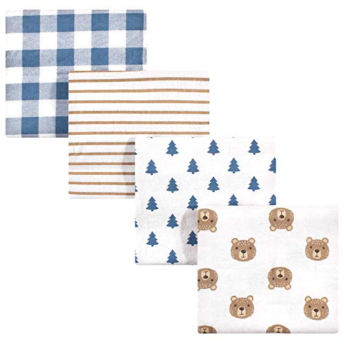 Hudson Baby Unisex Baby Cotton Flannel Receiving Blankets Little Bear One Size