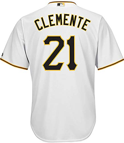 Outerstuff Roberto Clemente Pittsburgh Pirates White Youth 8-20 Cool Base Home Replica Jersey (10-12)