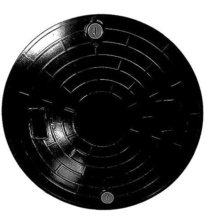 砲撃チョコレート【ノーブランド品】FRP製 浄化槽用マンホールフタ ロック付 黒 耐荷重 2t 【表示規格Φ450-500k】