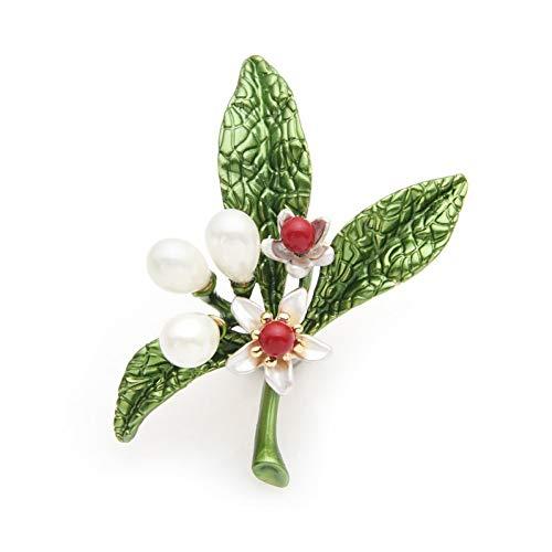 XZJES Broche Broches De Esmalte De Flores De Azahar para Hombres Y Mujeres
