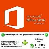 MS Office 2016 Professional Plus 32 bit & 64 bit Vollversion Multilingual - Original Lizenzschlüssel per Post und E-Mail + Anleitung von HBS SOFTUP® - Versand max. 60Min
