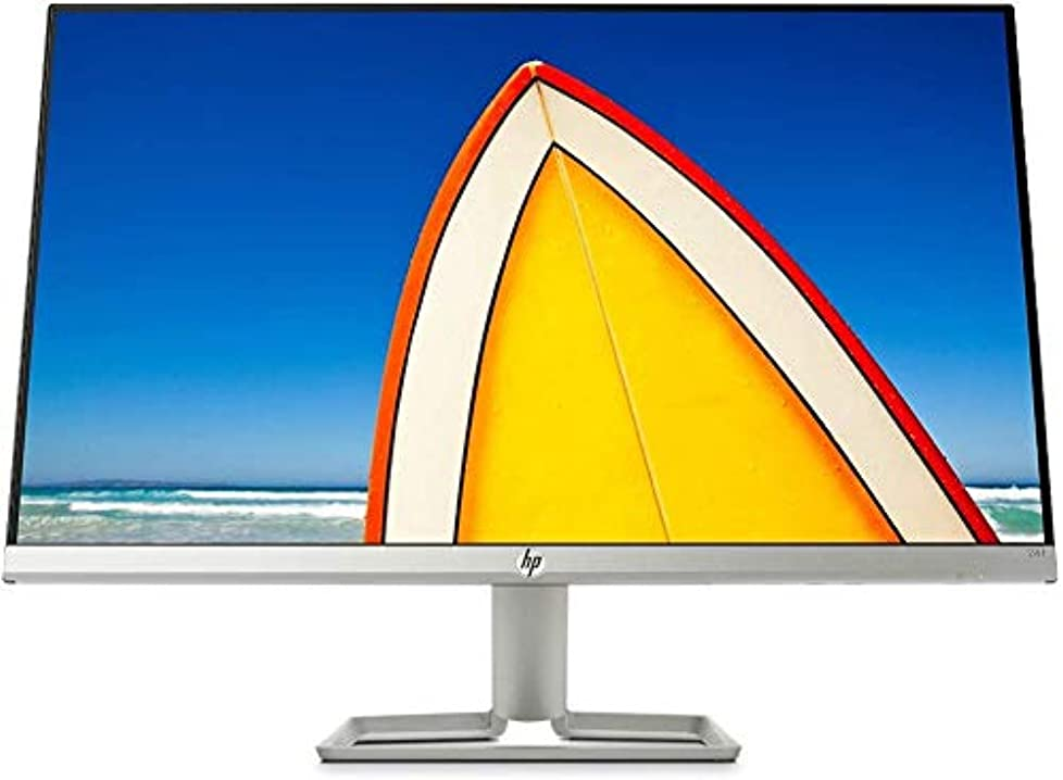 "Monitor pc hp – pc 24f monitor 23.8"" fhd 1920 x 1080 a 60 hz,ips, antiriflesso, borderless,tempo risposta 5 ms 2XN60AA#ABU"