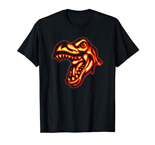 Dinosaurio T-Rex de Halloween Calabaza regalos de los niños Camiseta