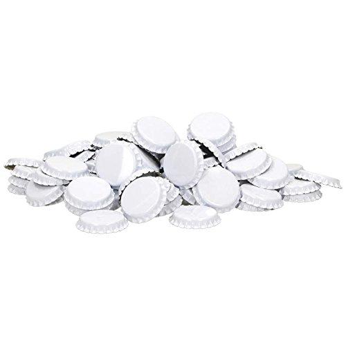 Coronas de corcho (29 mm, inserto espumado, 100 unidades), color blanco