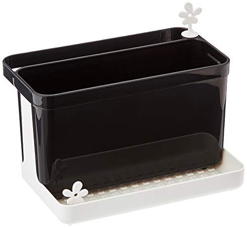 koziol Spül-Organizer  Park It,  Kunststoff, cosmos black / weiß, 11,7 x 19,8 x 15,8 cm