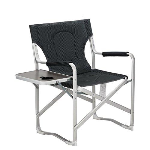 Chaise Pliante portative extérieure avec Le côté mesa Plage Chaise Longue Chaise de Bureau Fauteuil