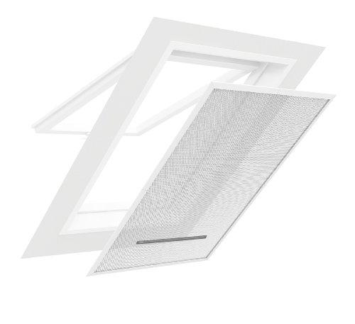 easy life Insektenschutz / Sonnenschutz für Dachfenster 140 x 170 cm in anthrazit & silber Mückenschutz Insektenschutzgitter im Klemmrahmen