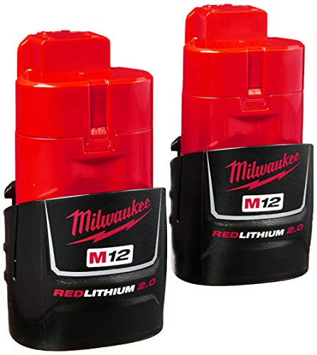 Milwaukee (2-Pack) 48-11-2420 M12 REDLITHIUM 2.0 Compact Battery Packs