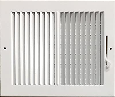 "HBW 10""x 8"" (Duct Opening Size) 2-Way Stamped Face Steel Ceiling/sidewall Air Supply Register - Vent Cover - Actual Outside Dimension 11.75"" X 9.75"""